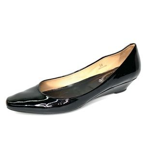 TOD'S Italian Made Black Patent Wedges, 38/8